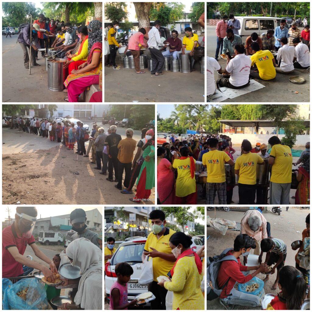 seva food distribution during pandemic